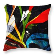 Glass Abstract 297 Throw Pillow by Sarah Loft