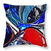Glass Abstract 507 Throw Pillow by Sarah Loft