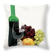 Glass Half Full Throw Pillow by Bill Dunkley