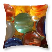 Glass In Glass 3 Throw Pillow by Mary Bedy