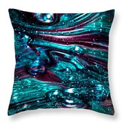 Glass Macro Abstract Rb3 Throw Pillow by David Patterson