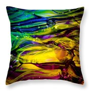 Glass Macro Abstract RCY1 Throw Pillow by David Patterson