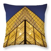 Glass Pyramid Throw Pillow by Brian Jannsen