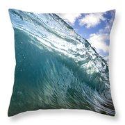 Glass Surge Throw Pillow by Sean Davey
