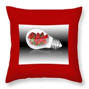 Global Strawberries Throw Pillow by Kaye Menner