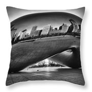 Glowing Bean Throw Pillow by Sebastian Musial