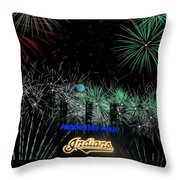 Go Indians Throw Pillow by Frozen in Time Fine Art Photography