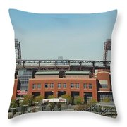 Go Phils Throw Pillow by Michael Porchik