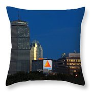 Go Red Sox Throw Pillow by Juergen Roth