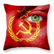 Go Ussr Throw Pillow by Semmick Photo