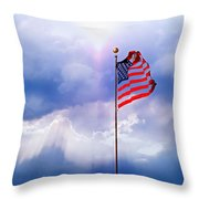 God Bless America Throw Pillow by Kume Bryant