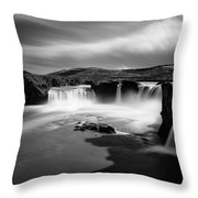 Godafoss Throw Pillow by Dave Bowman