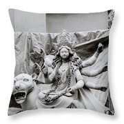 Goddess Durga Throw Pillow by Shaun Higson