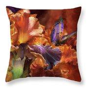 Goddess Of Miracles Throw Pillow by Carol Cavalaris