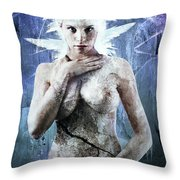 Goddess Of Water Throw Pillow by Michael  Volpicelli