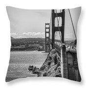 Going To San Francisco Throw Pillow by Heather Applegate