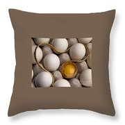 Gold And Eggs Throw Pillow by J L Woody Wooden