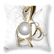 Gold And Pearl Throw Pillow by Anastasiya Malakhova