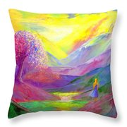 Gold Horizons Throw Pillow by Jane Small