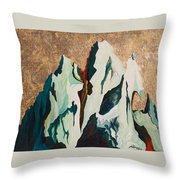 Gold Mountain Throw Pillow by Joseph Demaree