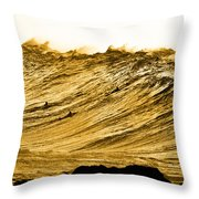 Gold Nugget Throw Pillow by Sean Davey