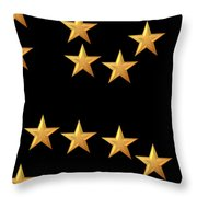 Gold Stars Abstract Triptych part 3 Throw Pillow by Rose Santuci-Sofranko