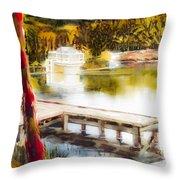 Golden Afternoon Throw Pillow by Kip DeVore