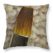 Golden Brush Throw Pillow by Sonali Gangane