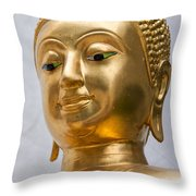 Golden Buddha Statue Throw Pillow by Antony McAulay