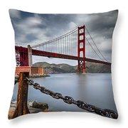 Golden Gate Bridge Throw Pillow by Eduard Moldoveanu