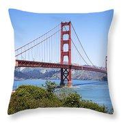 Golden Gate Bridge Throw Pillow by Kelley King