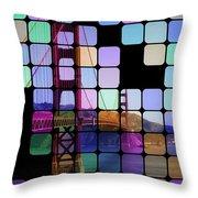 Golden Gate Bridge Modern Art Throw Pillow by Florian Rodarte