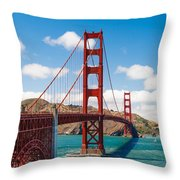 Golden Gate Bridge Throw Pillow by Sarit Sotangkur