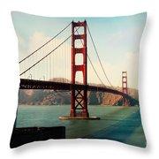 Golden Gate Bridge Throw Pillow by Sylvia Cook
