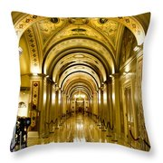 Golden Government Throw Pillow by Greg Fortier