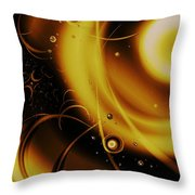 Golden Halo Throw Pillow by Anastasiya Malakhova