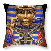 GOLDEN INNER SARCOPHAGUS of a PHARAOH Throw Pillow by Daniel Hagerman