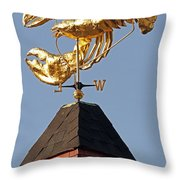 Golden Lobster Weathervane Throw Pillow by Juergen Roth
