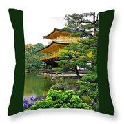 Golden Pavilion - Kyoto Throw Pillow by Juergen Weiss