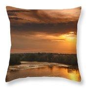 Golden Payette River Throw Pillow by Robert Bales