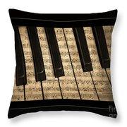 Golden Pianoforte Classic Throw Pillow by John Stephens