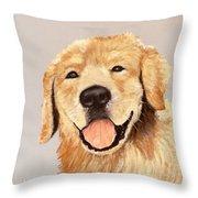 Golden Retriever Throw Pillow by Anastasiya Malakhova