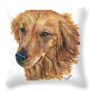 Golden Retriever Throw Pillow by Barb Capeletti