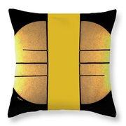 Golden Sun Diptych Throw Pillow by Cheryl Young