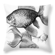 goldfish Throw Pillow by Sarah Batalka