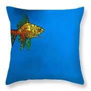 Goldfish Study 4 - Stone Rock'd Art By Sharon Cummings Throw Pillow by Sharon Cummings