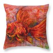 Goldfish Throw Pillow by Zaira Dzhaubaeva
