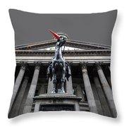 Goma Glasgow Pop Art Grey Throw Pillow by John Farnan