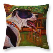 Good Day On The Boat Throw Pillow by D Renee Wilson