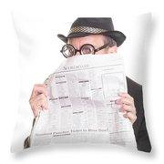 Good News Throw Pillow by Edward Fielding